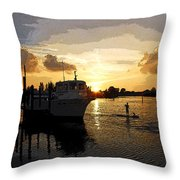 Home Before The Night  Throw Pillow