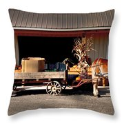 Home Delivery Family Market Throw Pillow