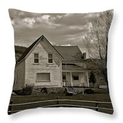 Home For The Cowboy Throw Pillow