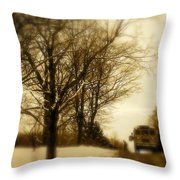 Home From School Throw Pillow