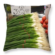 Home Grown Onions Throw Pillow