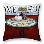 Home Sweet Home Throw Pillow by Jeff Lowe