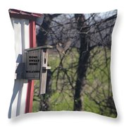 Home Sweet Home-welcome Throw Pillow