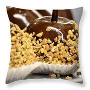 Homemade Caramel Apples Throw Pillow