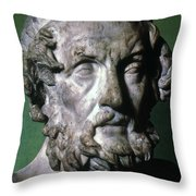 Homer (9th-8th Century B.c.) Throw Pillow by Granger