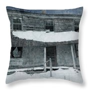 Homestead Blues Throw Pillow