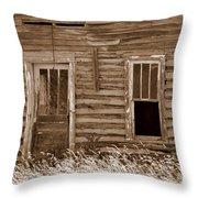 Homestead Past Throw Pillow