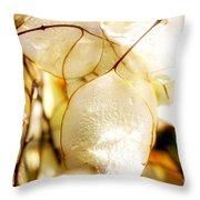 Honesty Plants Close Up Throw Pillow
