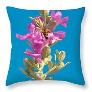 Honey Bees On Sage 1 Throw Pillow