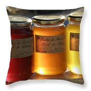 Honey Throw Pillow by Lainie Wrightson