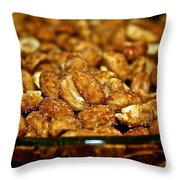 Honey Roasted Throw Pillow