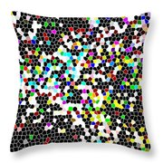 Honeycomb Abstract  Throw Pillow