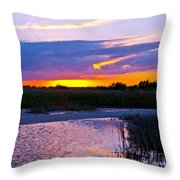 Honeymoon Island Sunset Throw Pillow