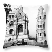 Hong Kong - Monument To Queen Victoria - C 1906 Throw Pillow