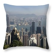 Hong Kong Cityscape Hong Kong, China Throw Pillow
