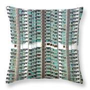 Hong Kong Residential Building Throw Pillow