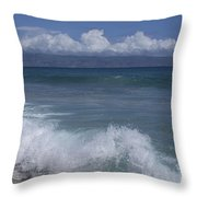 Honokohau Aloalo Aheahe D T Fleming Beach Maui Hawaii Throw Pillow