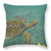 Honu Waters Throw Pillow