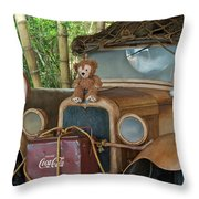 Hood Ornament Disney Bear Throw Pillow