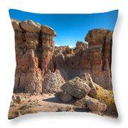 Hoodoos At Gooseberry Desert Wyoming Throw Pillow