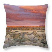 Hoodoos, Milk River Badlands, Writing Throw Pillow