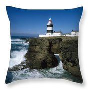 Hook Head Lighthouse, Co Wexford Throw Pillow