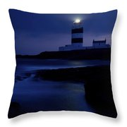 Hook Head Lighthouse, County Wexford Throw Pillow