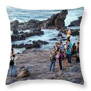 Hookipa Photo Shoot Throw Pillow