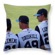 Hooks Players Throw Pillow