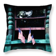 Hooray For America Throw Pillow