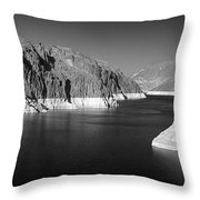 Hoover Dam Reservoir - Architecture On A Grand Scale Throw Pillow