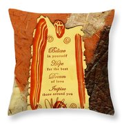 Hope 4 The Best Throw Pillow by Angela L Walker