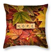 Hope-autumn Throw Pillow