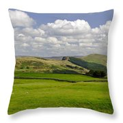 Hope Valley From Winnats Head Throw Pillow