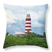 Hopetown Lighthouse Throw Pillow
