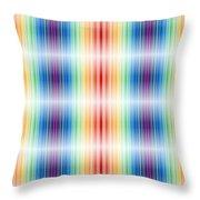 Horizontal Lights Throw Pillow