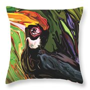 Hornbill Throw Pillow