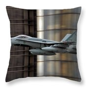 Hornet Buzzing Detroit Throw Pillow