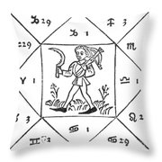 Horoscope Types, Engel, 1488 Throw Pillow by Science Source