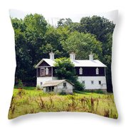 Horse Barn Throw Pillow
