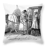 Horse Carriage, 1847 Throw Pillow