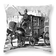 Horse Carriage, 1853 Throw Pillow