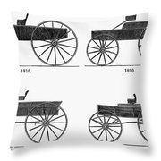 Horse Carriages, 1810-1860 Throw Pillow