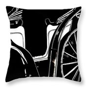 Horse Drawn Carriage Antique Throw Pillow