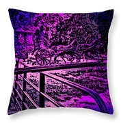 Horse Drawn Carriage In The Snow Throw Pillow