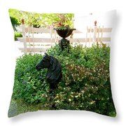 Horse Hitching Post 2 Throw Pillow