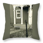Horse Hitching Post Throw Pillow