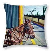 Horse In Malate Throw Pillow
