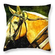 Horse In Paint Throw Pillow