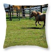 Horse Jump Throw Pillow